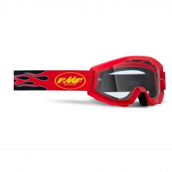 GOGLE FMF JUNIOR POWERCORE FLAME RED - SZYBA CLEAR